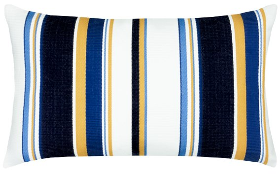 Bold Harbor Stripe Sunbrella® Outdoor Pillows - Nautical Luxuries