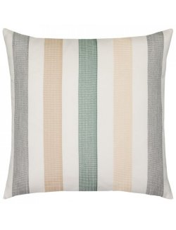 luxury outdoor pillow neutral stripes