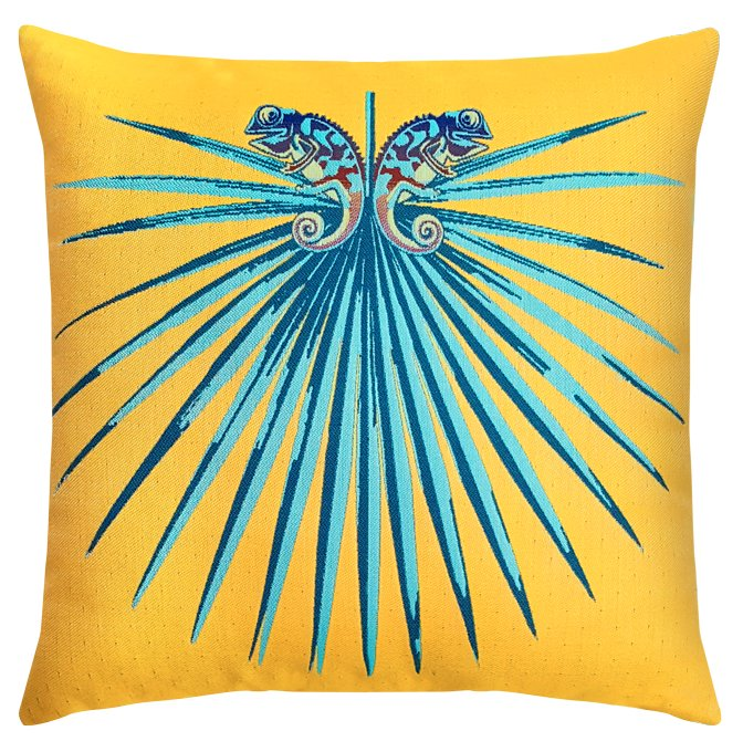 Tropics Chameleon Sunbrella® Outdoor Pillows - Nautical Luxuries