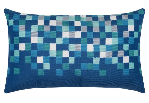 Water Pixels Sunbrella® Outdoor Pillows - Nautical Luxuries