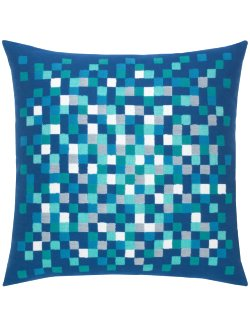Water Pixels Sunbrella® Outdoor Pillows