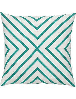 Aegean Mitered Stripe Sunbrella® Outdoor Pillows