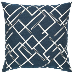 Divergent Indigo Sunbrella® Outdoor Pillows - Nautical Luxuries