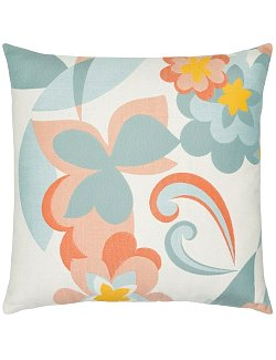 Coral Floral Sunbrella® Outdoor Pillow - Nautical Luxuries