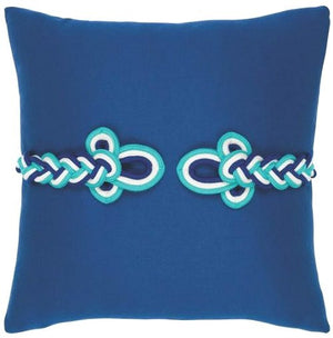 Frog's Clasp Sunbrella® Outdoor Pillows (4 Colors) - Nautical Luxuries