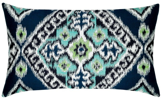 Woven Ikat Sunbrella® Outdoor Pillows - Nautical Luxuries