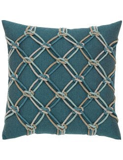 Nautical Lagoon Net Sunbrella® Outdoor Pillows - Nautical Luxuries