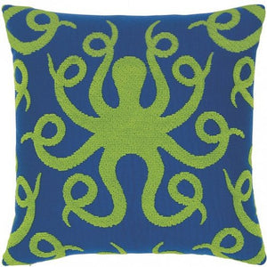 Plush Octopus Sunbrella® Outdoor Pillow - Nautical Luxuries
