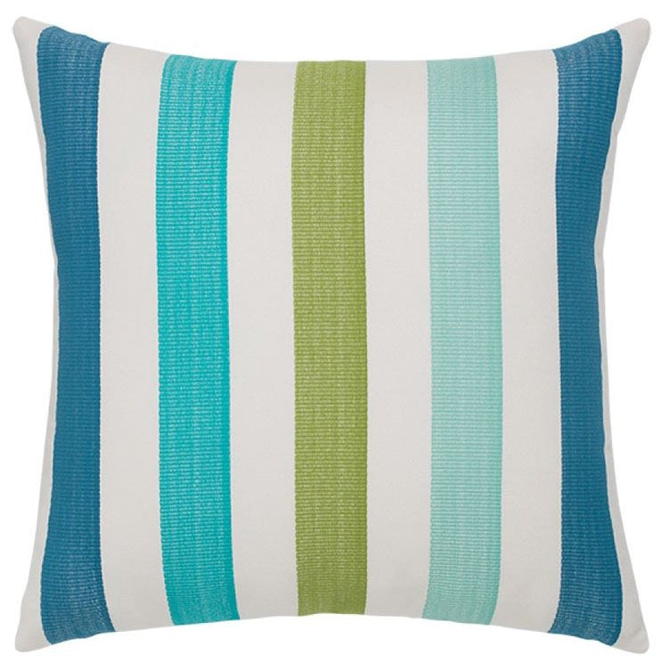 Mediterranean Stripe Sunbrella® Outdoor Pillows