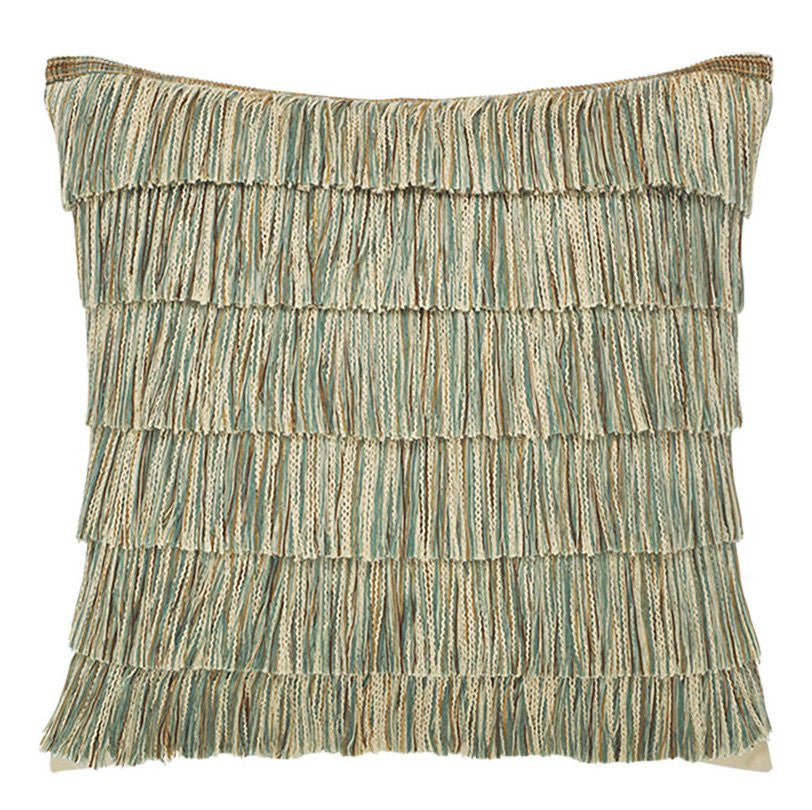 Tropical Fringe Sunbrella Outdoor Pillows Nautical Luxuries