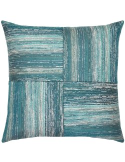 Quartered Lagoon Sunbrella® Outdoor Lumbar Pillow - Nautical Luxuries