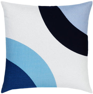Neo Circles Sunbrella® Outdoor Pillows - Blue Waters - Nautical Luxuries