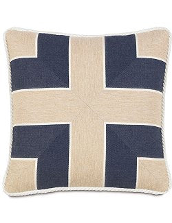 Bosun's Indigo Mitered Accent Pillow - Nautical Luxuries
