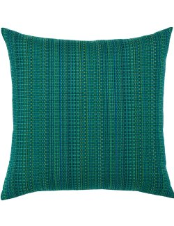 Textured Touch Emerald Sunbrella® Outdoor Pillow