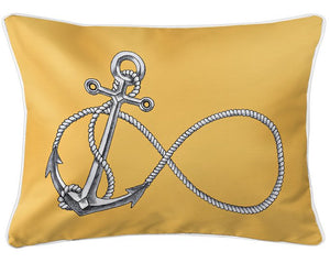 Nautical Anchor Indoor/Outdoor Pillow - Nautical Luxuries