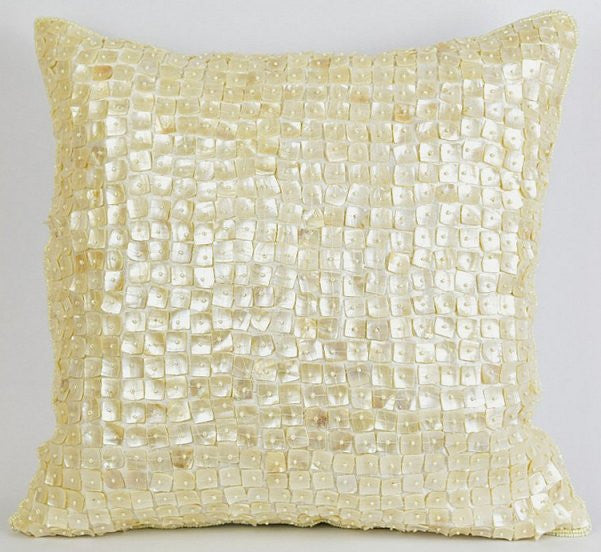 Mother Of Pearl Accent Pillows - Nautical Luxuries