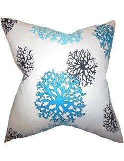 Tropical Coral Heads Down-Filled Pillows - Nautical Luxuries
