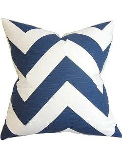 Wide Chevron Stripes Down-Filled Pillows