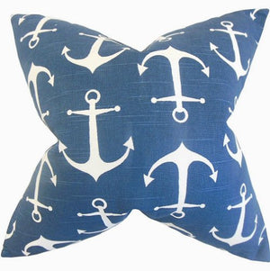 Marine Anchors Down-Filled Pillows - Nautical Luxuries
