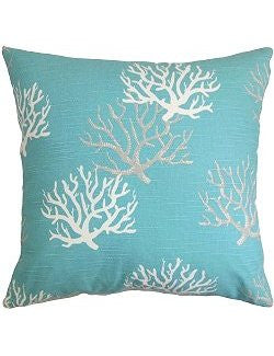 Fan Coral Down-Filled Pillows - Nautical Luxuries