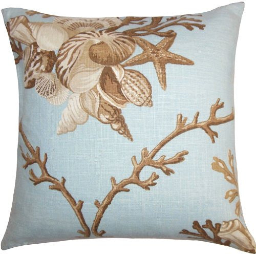 Bountiful Seashells Down-Filled Pillows