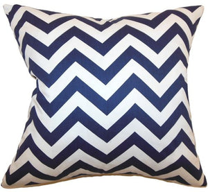 Narrow Chevron Stripes Down-Filled Pillows - Nautical Luxuries