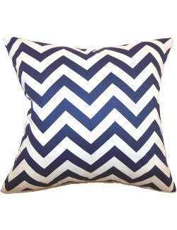 Narrow Chevron Stripes Down-Filled Pillows