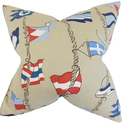 Waving Pennants Down-Filled Pillows