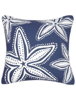 Blue Lagoon Starfish Print Pillow - Nautical Luxuries