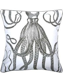 Giant Octopus Hand-Screened Pillow