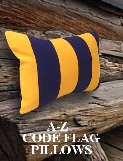 Sunbrella® Outdoor Nautical Code Flag Pillows