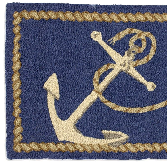 Anchor & Line Hooked Wool Rug