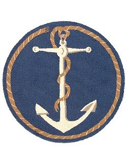 Anchor & Line Round Hooked Wool Rug