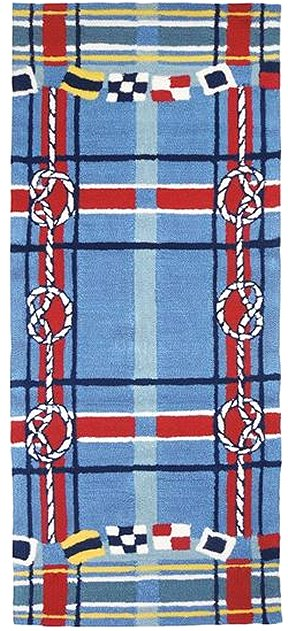 Sailor's Plaid Hand-Hooked Indoor/Outdoor Rugs - Nautical Luxuries