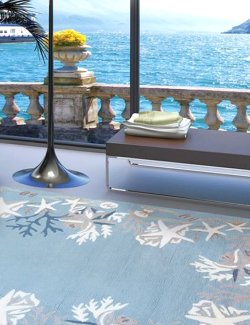 Coral Lagoon Hand-Hooked Indoor/Outdoor Rugs - Nautical Luxuries