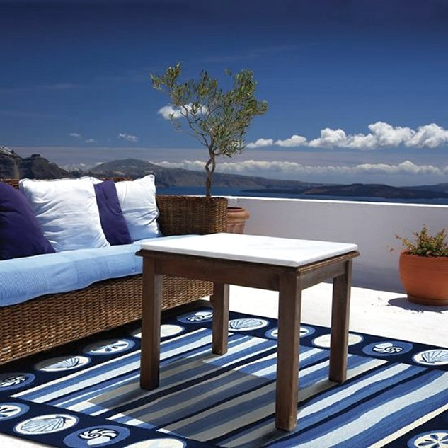 Ocean Tides Hand-Hooked Indoor/Outdoor Rugs