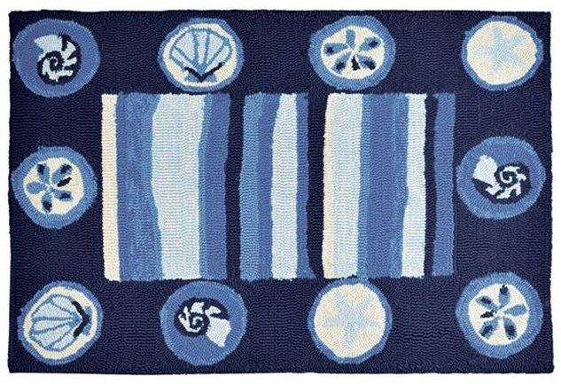 Ocean Tides Hand-Hooked Indoor/Outdoor Rugs - Nautical Luxuries