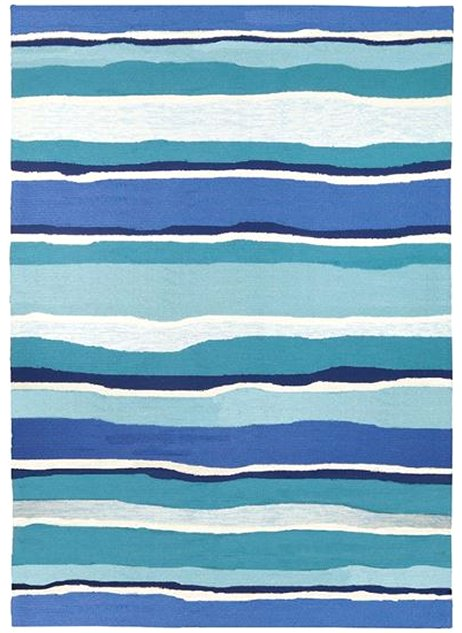 Rippling Waters Hand-Hooked Indoor/Outdoor Rugs - Nautical Luxuries