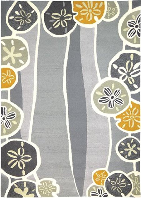 Sand Dollar Harvest Hand-Hooked Indoor/Outdoor Rugs - Nautical Luxuries