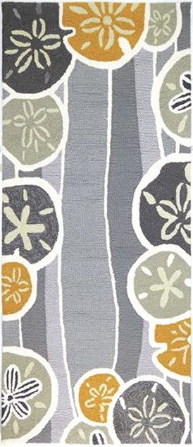 Sand Dollar Harvest Hand-Hooked Indoor/Outdoor Rugs