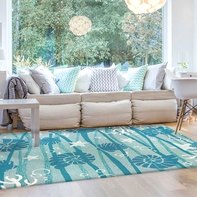 indoor outdoor rug beach style