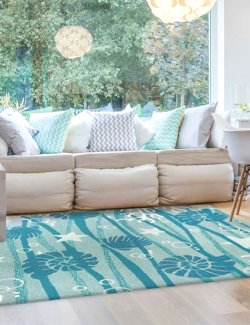 Adrift Hand-Hooked Indoor/Outdoor Rugs - Nautical Luxuries