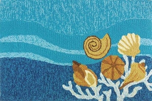 Deepwater Reef Hand-Hooked Indoor/Outdoor Rugs - Nautical Luxuries