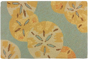Floating Sand Dollars Hand-Hooked Indoor/Outdoor Rugs - Nautical Luxuries