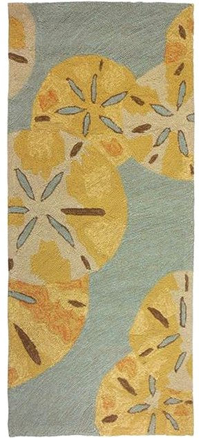 Floating Sand Dollars Hand-Hooked Indoor/Outdoor Rugs