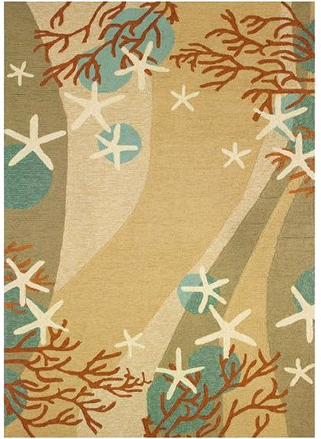 Sandy Seas Hand-Hooked Indoor/Outdoor Rugs - Nautical Luxuries