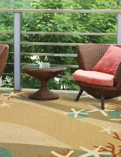Sandy Seas Hand-Hooked Indoor/Outdoor Rugs