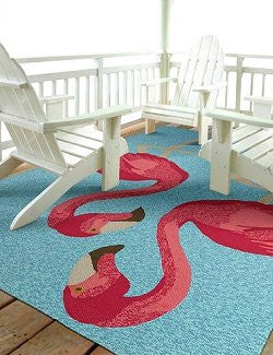 Pink Flamingo Fantasy Indoor/Outdoor Rugs