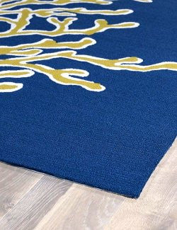 Golden Coral Branches Indoor/Outdoor Rugs