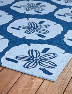 Blue Sand Dollars Indoor/Outdoor Rugs